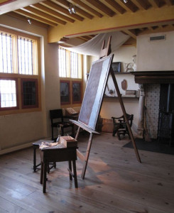 Atelier  cu  ecleraj  stil  Rembrandt