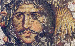 Detaliu  mozaic pavimentar sec al VI-lea