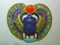 Pandant egiptean cu lapislazuli