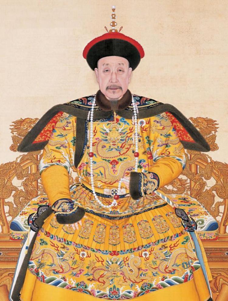 Roba de ceremonie a imparatului Qianlong