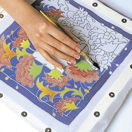 Pictarea  cu vopsea a zonelor din interiorul conturului