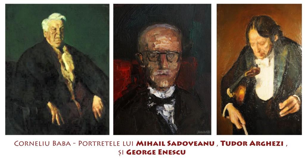 Portretele lui Sadoveanu, Arghezi si Enescu