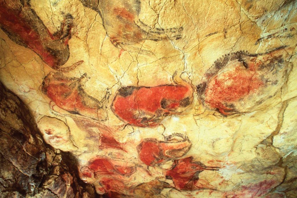 Imagine pictura pe piatra -Altamira -Spania