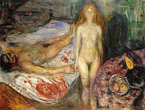 Edvard Munch-Moartea lui Marat