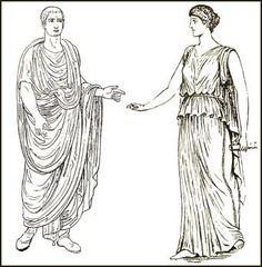 Imbracaminte greceasca preluata de romani