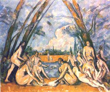 Les grandes-baigneuses-1898-1905 Cezanne