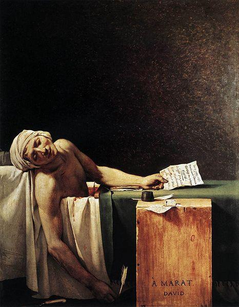 Marat asasinat - Jaques Louis David
