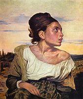 Portret de femeie- Eugène Delacroix