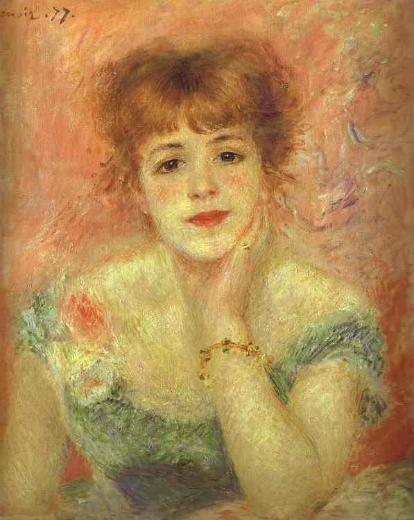 Portretul lui Jeanne Samary - Renoire
