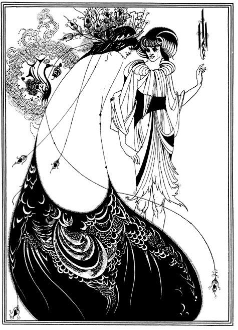 Aubrey Beardsley - Rochia paun (japonism)