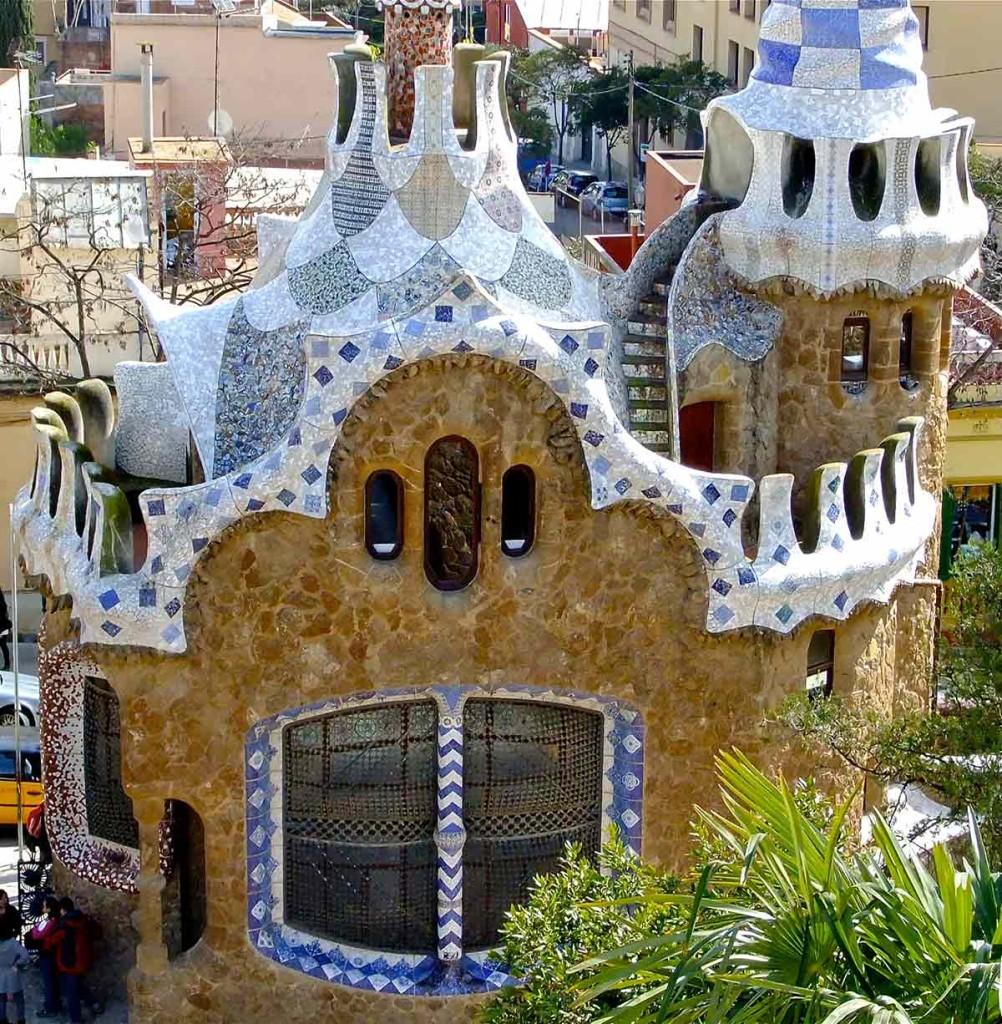 Casa lui Gaudis din Parcul Guell