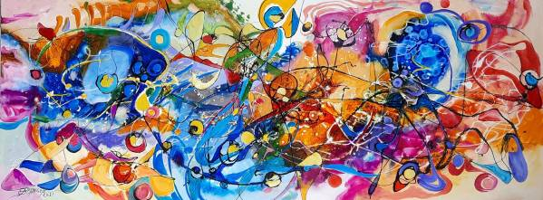 """abstract, pictura mare"" de Elena Bissinger"